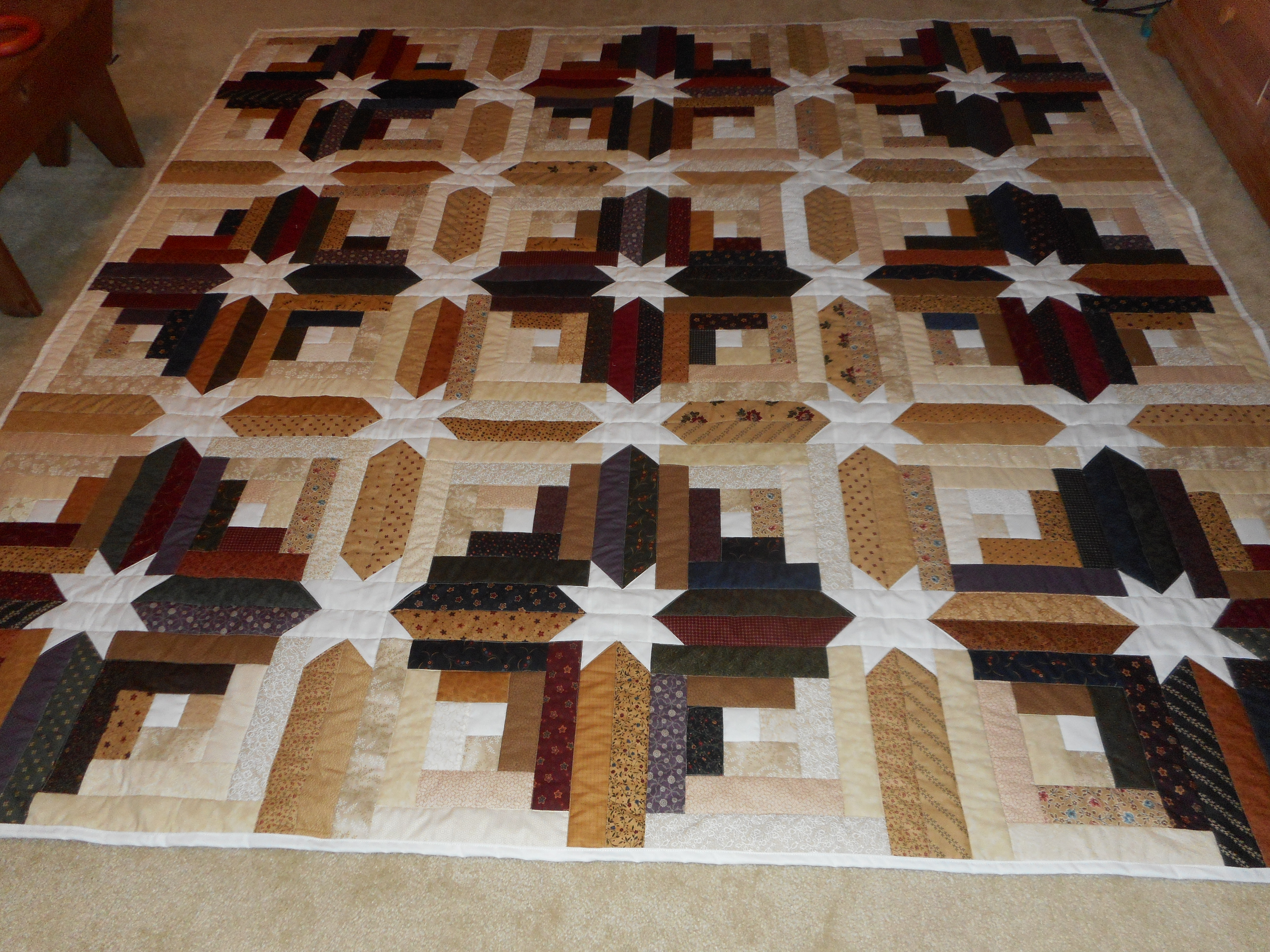 Log Cabin Star Quilt Peggy And Sami Quilts