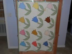 Vintage Tulip Baby Quilt