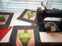 Quilting the little blocks