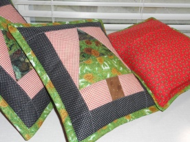 Front and back of cushions