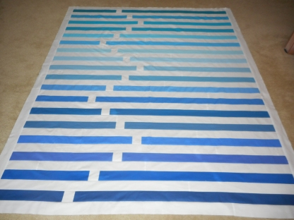 Regatta pieced and ready to quilt